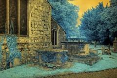 gwuk hdr ir irhdr infrared suffolk church village england... (Photo: Brokentaco on Flickr)