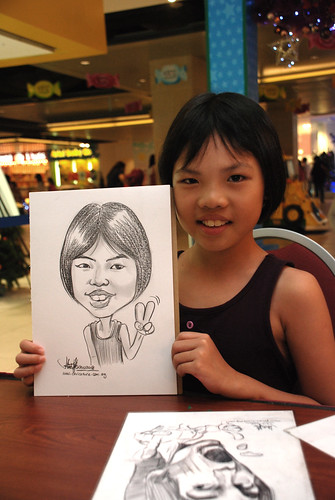 Caricature live sketching for Marina Square 2