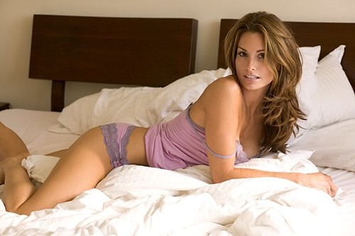 beautiful woman on bed looking sexy