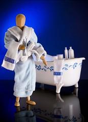 "Holiday break (ANVRecife) Tags: man macro canon bath woody bathtub relaxation vallejos 40d conceptphotos anvrecife relaxing""vallejostoytoyswoodymodelwood"