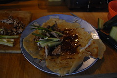 home-made duck pancakes