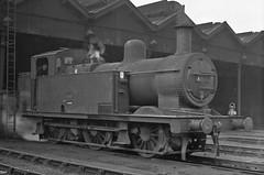 47616 Patricroft 22 Sept 1964 (pondhopper1) Tags: blackandwhite white black steam railways lms jinty uksteam patricroft 060t