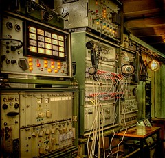 Phone and wiretapping technic (Batram) Tags: urban abandoned lost interestingness phone place decay nuclear bunker technic ddr exploration hdr atom mfs stasi codename urbex wiretapping frauenwald batram ministeriumfrstaatssicherheit trachtenfest stasibunker