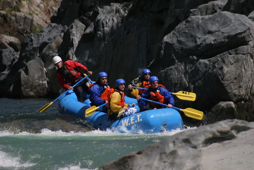 spring rafting in California