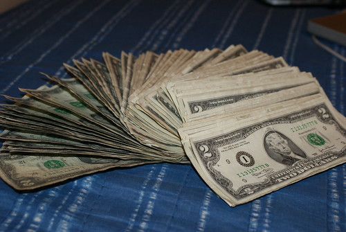 2 dollar bills