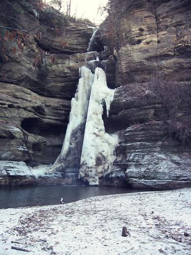 beautiful frozen waterfall