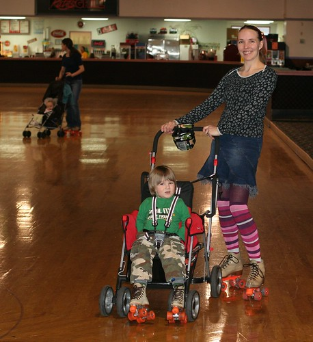 Stroller skating