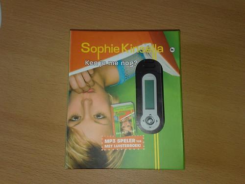 Gisteren bij de film een mp3-speler met luisterboek gekregen. Leuk!