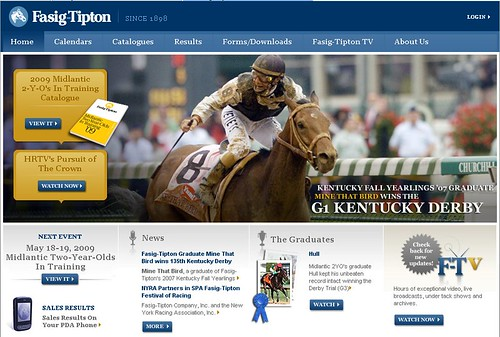 360i client Fasig-Tipton (see site above) celebrated victory when graduate Mine That Bird won the 2009 Kentucky Derby.