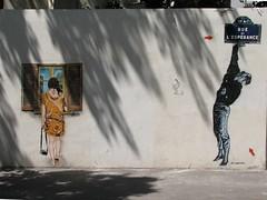 by Jana & JS and Jef Aerosol (tofz4u) Tags: streetart paris stencil jana js pochoir streeart artderue 75013 jefaerosol lézartsdelabièvre butokay janajs