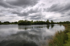 England: Northamptonshire - Deep Waters (Tim Blessed) Tags: uk sky nature water clouds reflections landscapes countryside scenery lakes ponds singlerawtonemapped magicunicornverybest