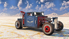 Hot Rod Tow Truck (kenmojr) Tags: auto car truck 3d hexagon hotrod vehicleartrage