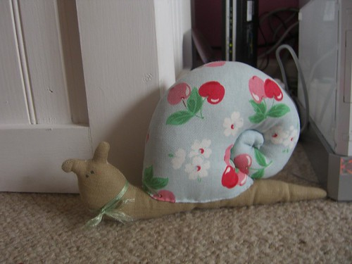 Fabric Snail by Aunt Angie.