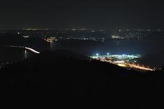 Tomei expressway Lake Hamana SA (Shin-Nagoya) Tags: japan lowlight nightphoto lighttrail lightstream shizuokapref hamamatsucity afsnikkor2470mmf28g 奥浜名湖展望公園
