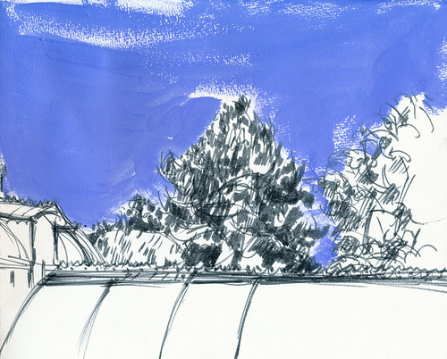 Conservatory of flowers, righthand side of sketch