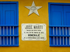 Placa casa José Martí