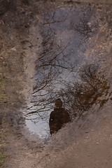 forest portrait (beta karel) Tags: light boy portrait sky brown water pool reflections sand woods branch shadows y refelction mudd 2014 muddpool betakarel