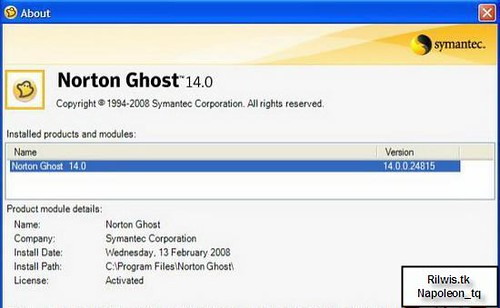 Symantec Norton Ghost   Phần mềm Backup thông dụng nhất hiện nay
