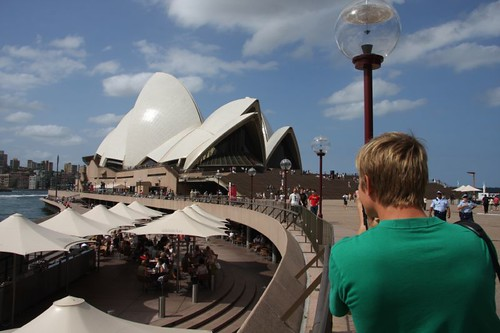 Me capturing the Sydney Opera House...