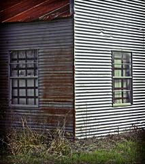 Corner View (darkhairedgirl) Tags: roadtrippin tinroofrusted abandonedgarage fredricksburgroadtrip