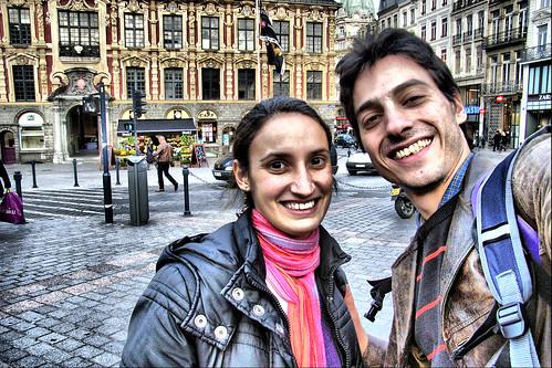 Jimena et moi - Gare Lille Flandres, France.