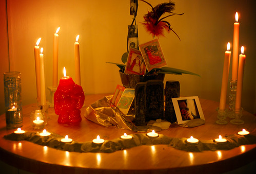 my birthday altar.