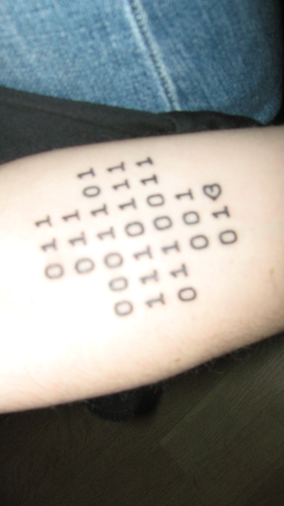 Binary Tattoo Who will be the first