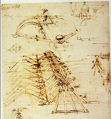F57v-Codex Atlanticus-abajo puente militar arriba estudios de ballestas-Biblioteca Ambrosiana