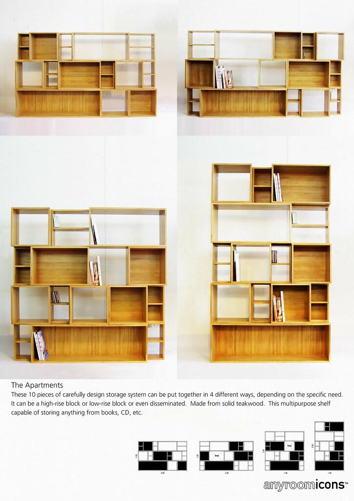 The Apartments (10 pcs set teakwood shelf)
