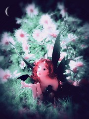 Midsummer Night's Dream (lisaluvz) Tags: night daisies garden poetry poem midsummer dream shakespeare away madness faeries glowy mycreation spirited lisaluvz mynewfairy ihadtofixherlegbecauseitbrokeoffbutilovedherstripeytights