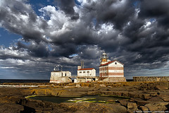 Märket lighthouse on a stormy morning