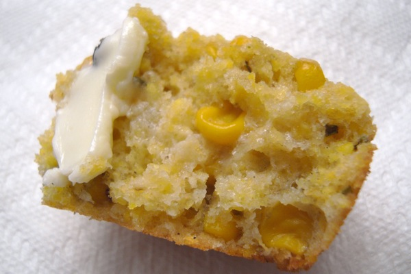 corn muffin with rosemary
