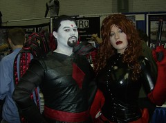 Mister Sinister and Anna Mercury (BelleChere) Tags: costume cosplay wizardworld wizardworldchicago mistersinister annamercury