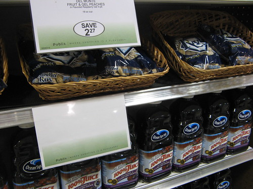 Tampa Bay Rays peanuts without a price at Publix
