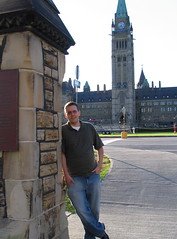 Bryan Person on Parliament Hill in Ottawa