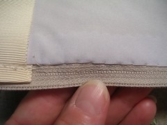 hand sewn lining