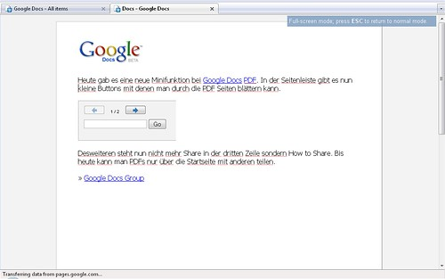Google Docs Full Screen