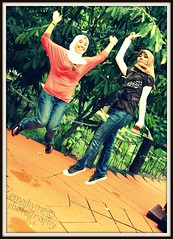 control jump. (emadivine) Tags: portrait colors girl garden happy frozen jump women control crossprocess hijab explore malaysia frame kl pathway malay eyra cherryontop tamantasikperdana 400d rebelxti funfanphotos emadivine womenexpression