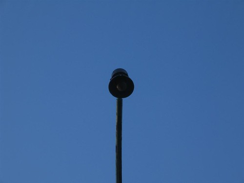 Old incandescent lamp post