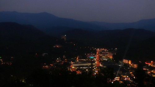 Aerial View of Gatlingburg @ Night