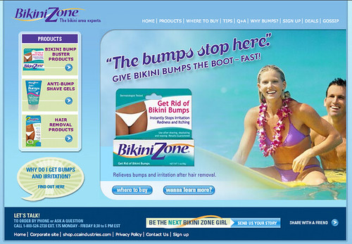 Our design team gave the Bikini Zone website a full body make over, ...