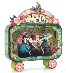 *FaiRy TeA TiMe* WHiMSiCaL aLTeReD aRt TiN SHaDoWBoX ViNTaGe PaPeR CoLLaGe oRiGiNaL (sPaRK*YouR*iMaGiNaTioN) Tags: pink roses bird art collage glitter fairytale vintage scrapbooking paper tin wings doll ebay tea handmade folk assemblage ephemera fairy fantasy photograph shadowbox chic fairies artforsale fairyland rhinestones teaparty whimsical alteredart shabby pulltoy effa paperpiecing zne debrinapratt originalwhimsical