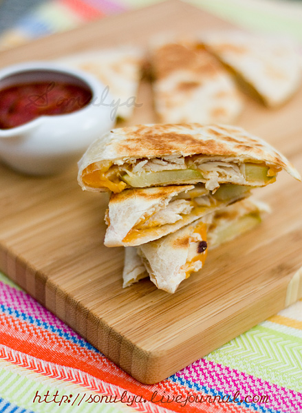 Chicken & Apple Quesadilla