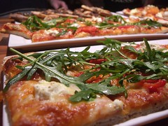 Roasted Capsicum and Rocquette Pizza - Astra Lodge