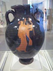 Amphora (jar): Musician playing the kithara (peterjr1961) Tags: nyc newyorkcity newyork art museum greek met themet metropolitanmuseumofart