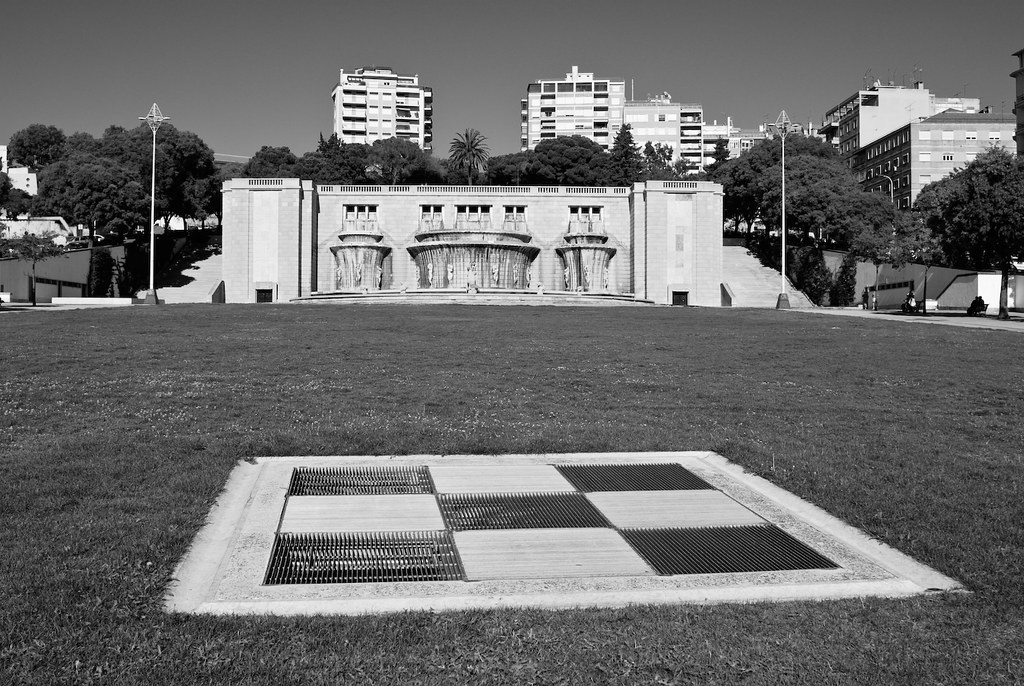 Fonte Luminosa na Alameda em Lisboa