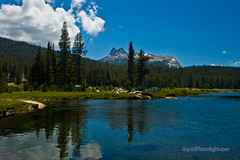 Reflections of Cathedral Peak on the Tuolumne River (Darvin Atkeson) Tags: california park camping wallpaper usa reflection america forest reflections river landscape us nationalpark high fishing nikon cathedral d70 hiking nevada meadows parks sierra alpine pines national yosemite resolution peek nationalparks ponderosa tuolumne largest easternsierra darvin   atkeson californiaphotography  darv californiaphotographer   liquidmoonlightcom liquidmoonlight jewelofthesierra