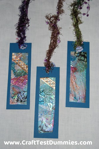 Fabric Paper Bookmarks