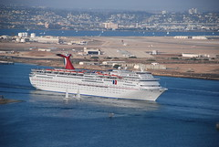 Cruise ship (Bart_2006) Tags: california cruise harbor ship sandiego pointloma 5photosaday cabrillonationalpark