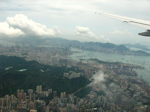 Flying past Hong Kong 2